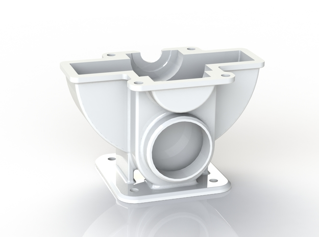 Tesla Turbine Bottom Casing  in White Natural Versatile Plastic