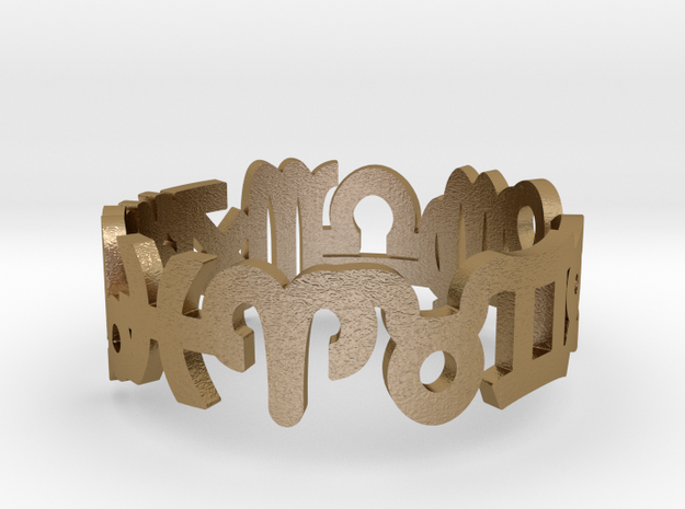 Zodiac Ring Fat in Polished Gold Steel: 10.5 / 62.75