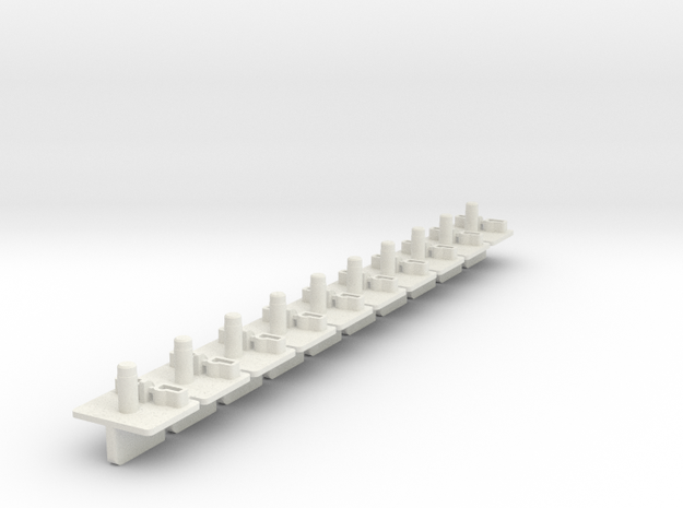 10xBraidGuide in White Natural Versatile Plastic