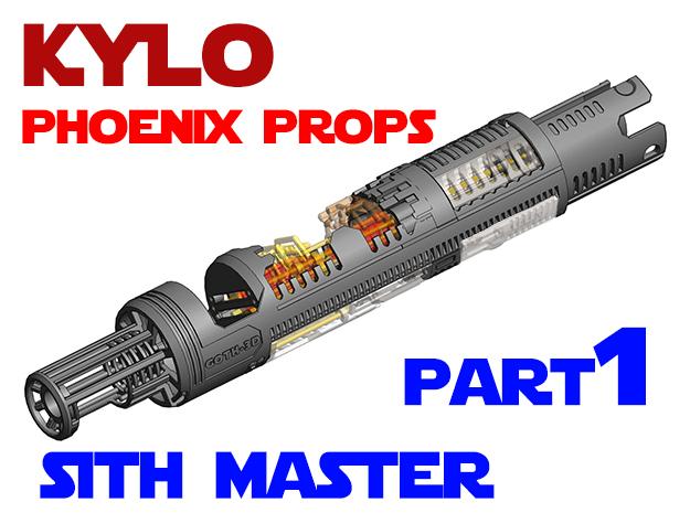 Phoenix Props - Kylo - Sith Master Part 1 Main in White Natural Versatile Plastic