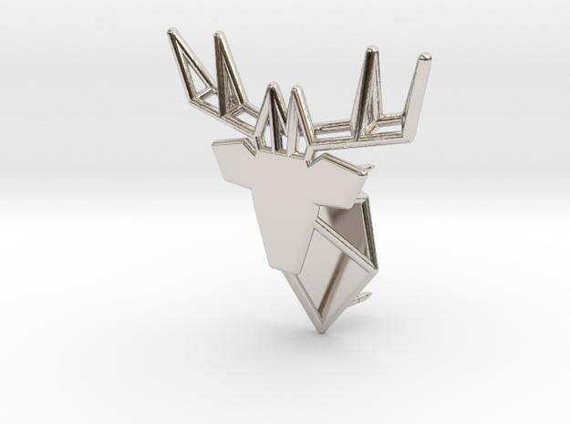 Deer Pin in Rhodium Plated Brass