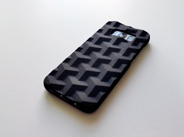 Samsung Galaxy S8 case_Cube in Black Strong & Flexible