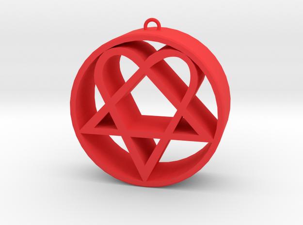 Heartagram in Red Processed Versatile Plastic