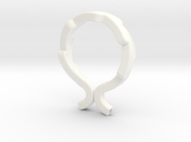 Tesla Valve Bracelet in White Processed Versatile Plastic