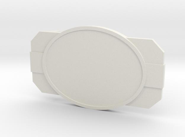 The Dignitary in White Premium Versatile Plastic