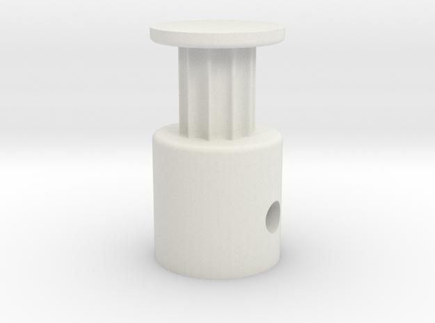 2GT GT2 10 teeth x 6mm width in White Natural Versatile Plastic