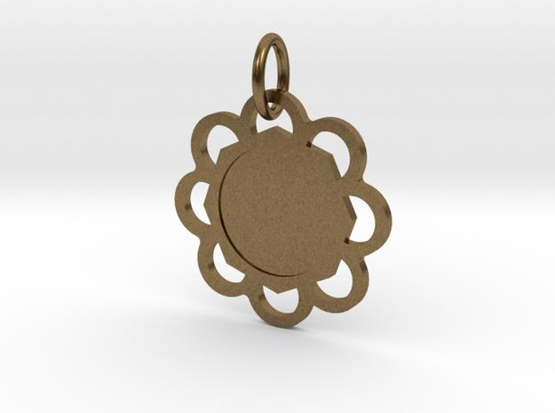 Custom Hexagon Pendant in Natural Bronze (Interlocking Parts)