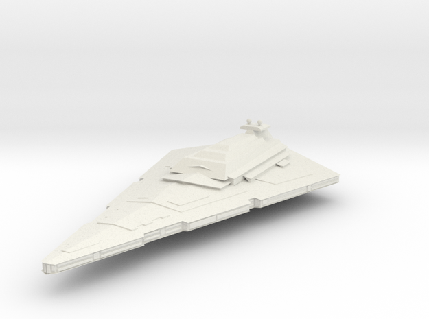 ISD Imperial Star Destroyer TEST in White Natural Versatile Plastic