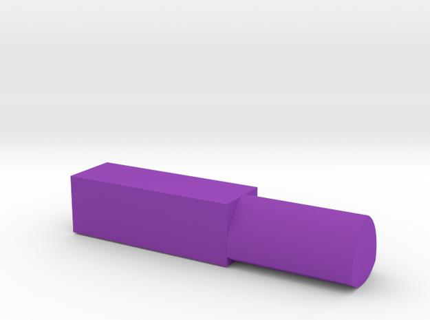 171124 Pup Triangle Mandrel in Purple Processed Versatile Plastic