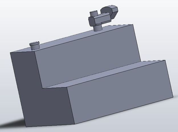 1:64 scale pickup truck L shaped fuel tank 3d printed