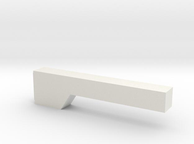 1/64 Fender well gun box in White Natural Versatile Plastic