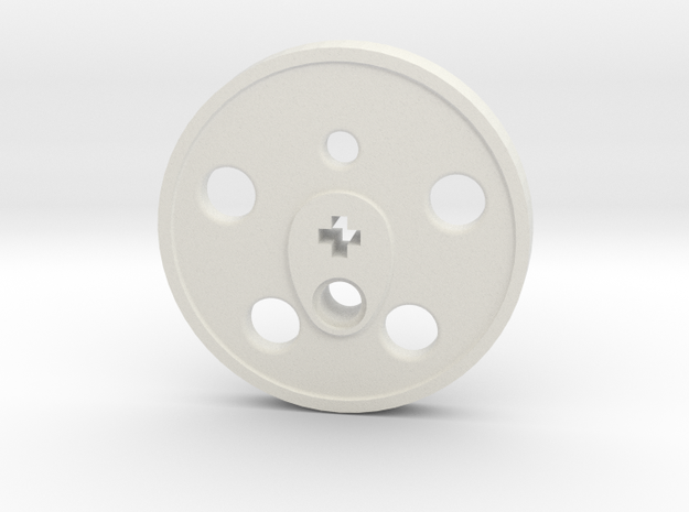 XXL Disc Driver - Blind, Small Counterweight in White Natural Versatile Plastic