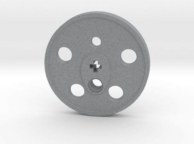 XXL Disc Driver - Blind, Small Counterweight in Polished Metallic Plastic