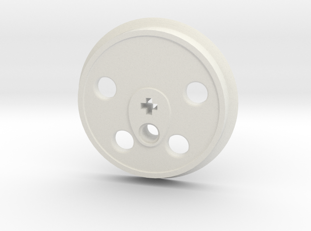 XXL Disc Driver - Large Counterweight, No Groove in White Natural Versatile Plastic