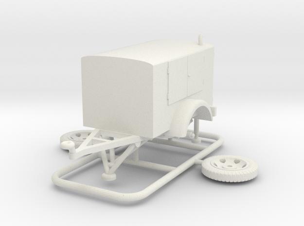 1/72 Pumpenanhaenger (fuel pump) in White Natural Versatile Plastic