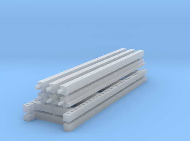1/64 3 high 12ft Pallet Rack in Smooth Fine Detail Plastic