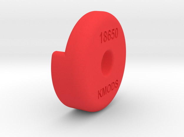 18650 to 20700 adapter in Red Processed Versatile Plastic