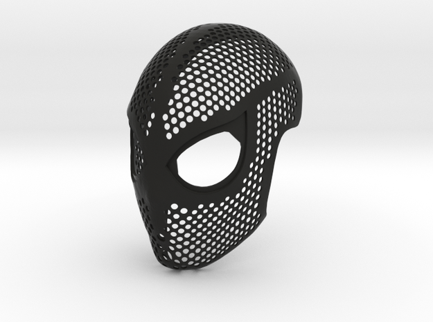 Homecoming Face Shell – Far From Home Costume Mask in Black Natural Versatile Plastic: Small