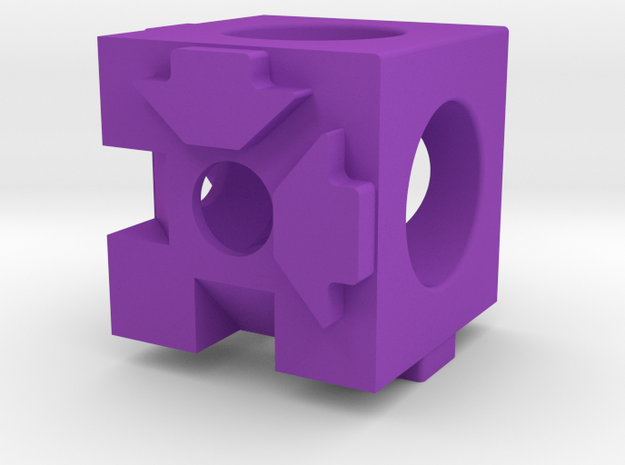 MakerBeam (10x10mm) 3 Corner Cube in Purple Processed Versatile Plastic