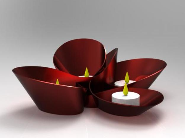flower tealight candle holder 3d printed Description
