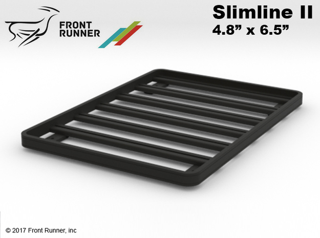 FR10030 Front Runner Slimline II Rack 4.8 x 6.5 in Black Natural Versatile Plastic