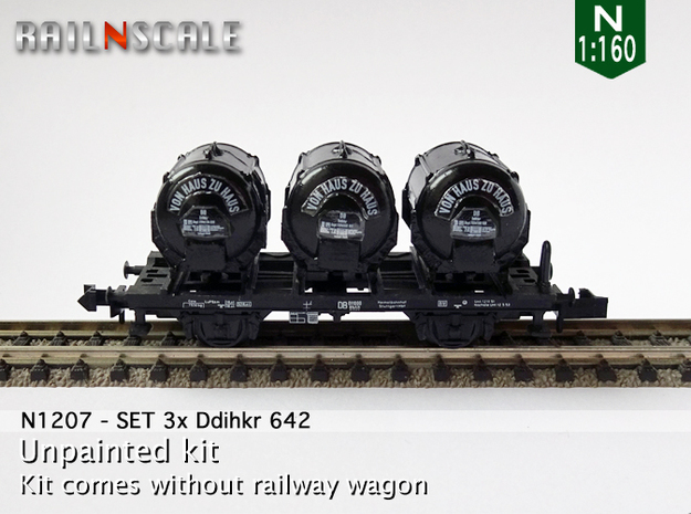 SET 3x Ddihkr 642 Behälter (N 1:160) in Frosted Ultra Detail