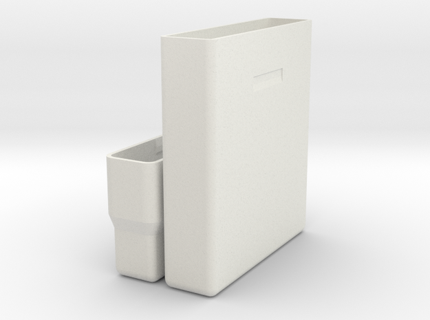 """Hard drive storage case for 2.5"""" 15mm drives in White Strong & Flexible"""
