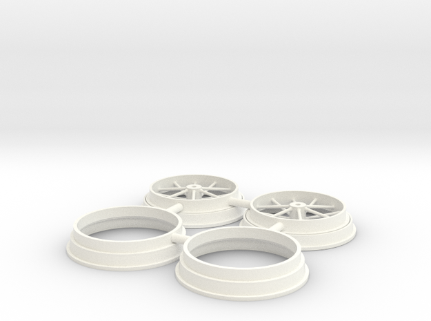 """12 spoke pair 1/8 17"""" in White Processed Versatile Plastic"""