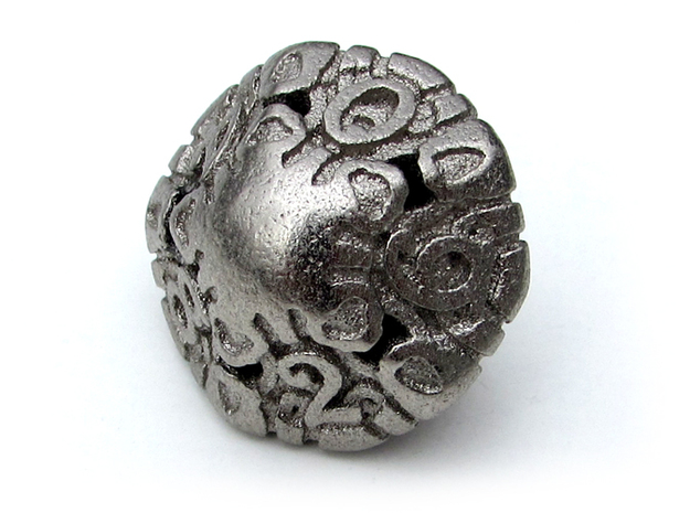 Art Nouveau Die10 in Polished Nickel Steel
