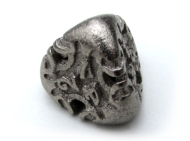 Art Nouveau Die4 in Polished Nickel Steel