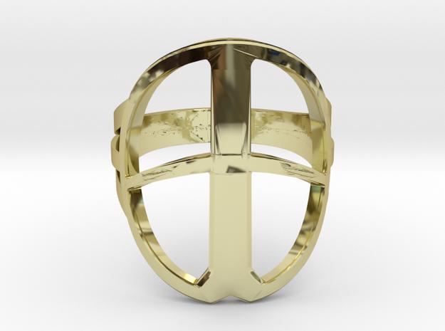 XP Deus Ring ringsize 22mm in 18k Gold Plated Brass