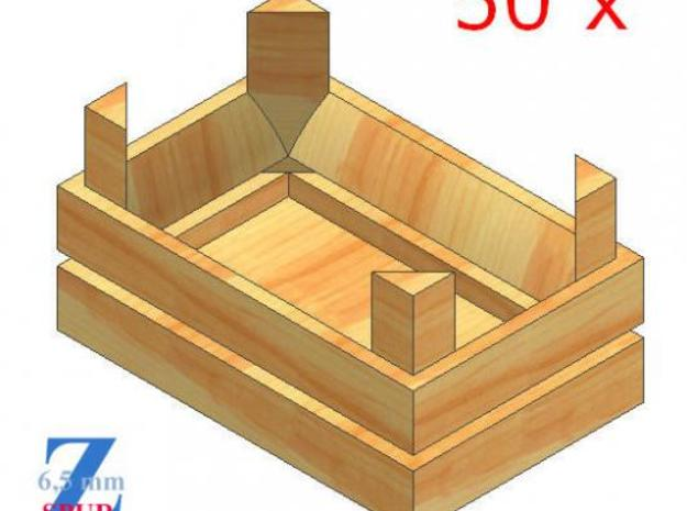 50x Obstkisten stapelbar (1/220) 3d printed Modellbild