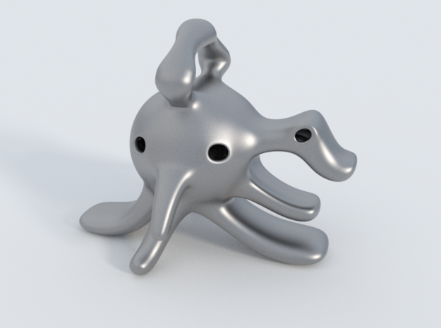 Dragoelephant Figurine 3d printed The model in Stainless Steel Material