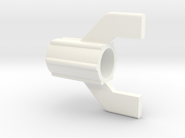 Captain Action -Launcher End Cap in White Strong & Flexible Polished