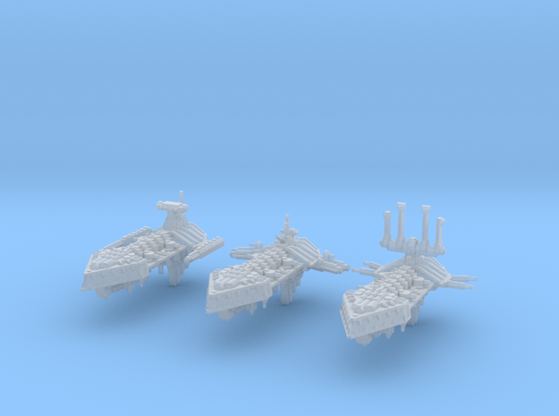 Insurgent Frigates (3) in Smooth Fine Detail Plastic