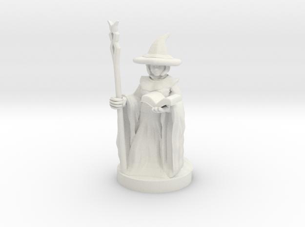 Gnome Female Wizard in White Natural Versatile Plastic