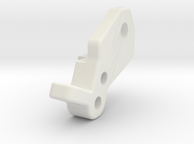 Losi Micro Rock Crawler Shock Mount Left in White Natural Versatile Plastic