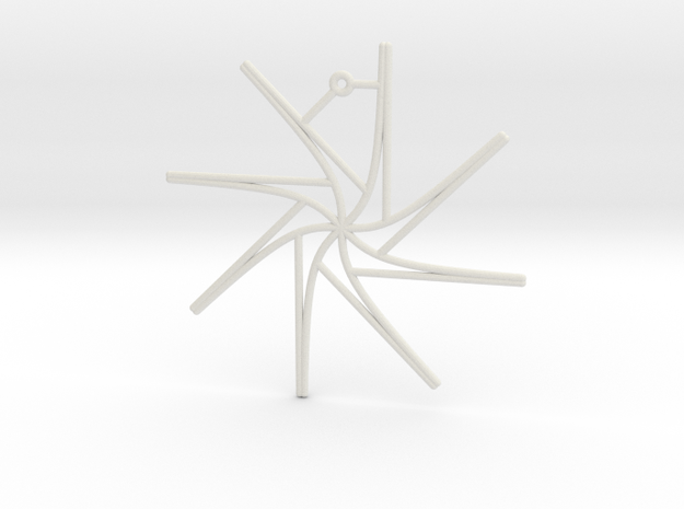 Tangent Ornament in White Natural Versatile Plastic