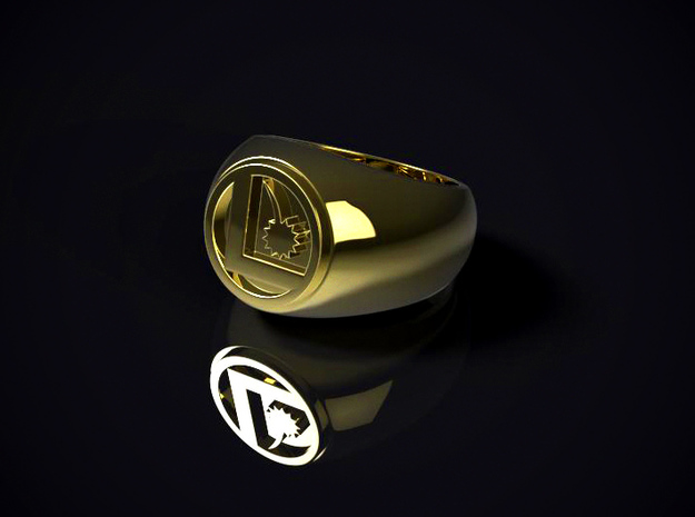 Legion Flight Ring in Polished Brass