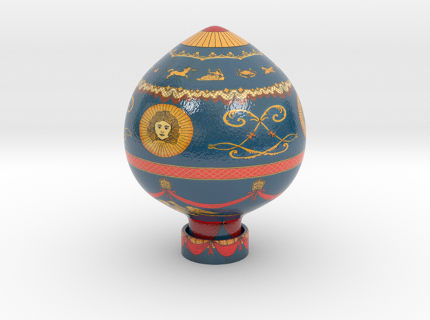 Balloon Brothers Montgolfier 1783 in Glossy Full Color Sandstone