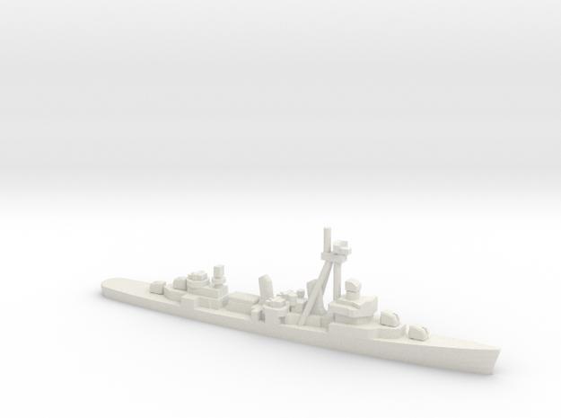 Fletcher-class destroyer Z1/Z3, 1/2400 in White Natural Versatile Plastic