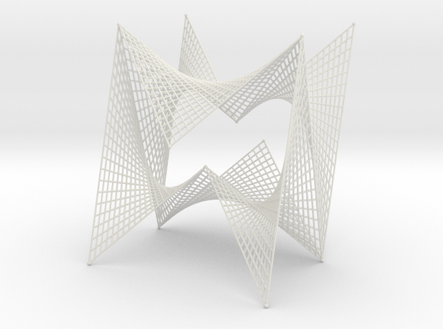 String Art Sculpture - Double Straight Lines Curve