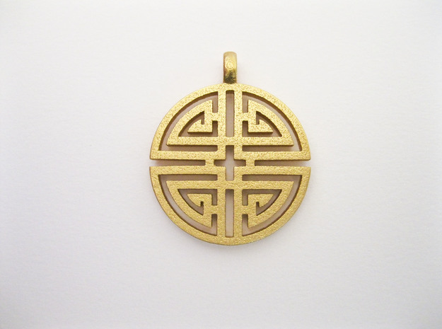 Longevity Pendant in Polished Gold Steel