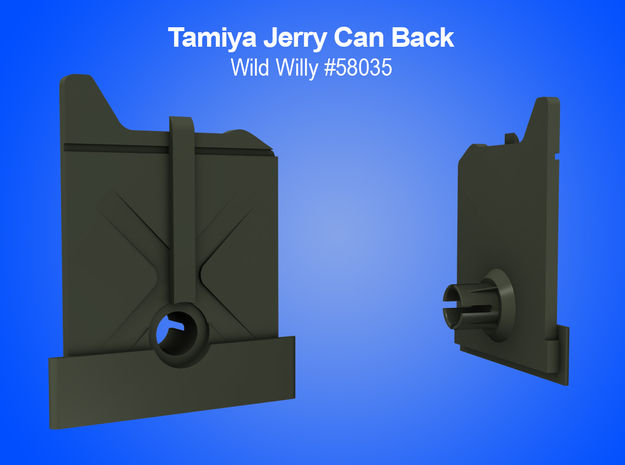 Tamiya RC Jerry Can (back) Insert for Wild Willy in White Natural Versatile Plastic