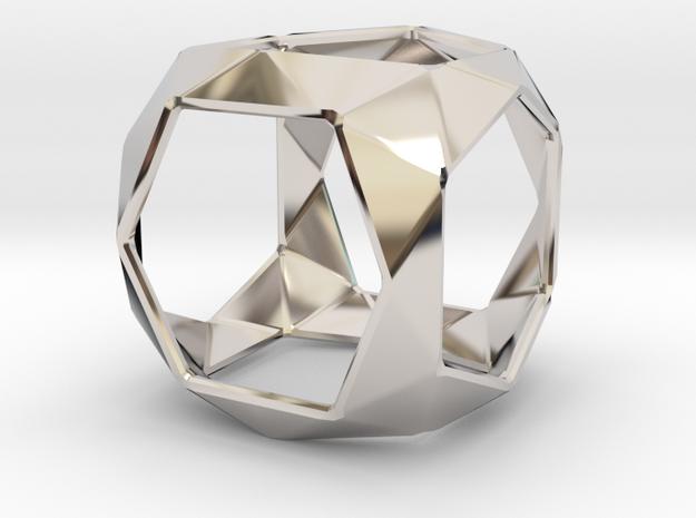 GEO  in Rhodium Plated Brass: Small