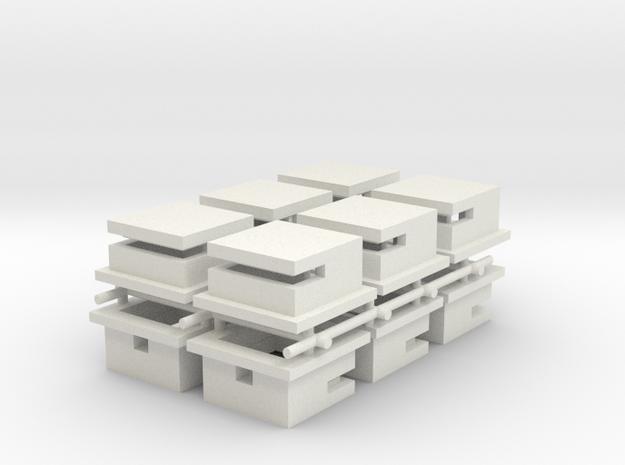 Omaha Beach Block House set of 12  in White Natural Versatile Plastic