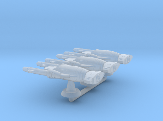 Terran(Early) Bradley Frigate Squadron - 1:7000 in Smooth Fine Detail Plastic