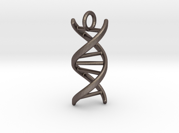 DNA (customizable: size, pendant, text) in Stainless Steel