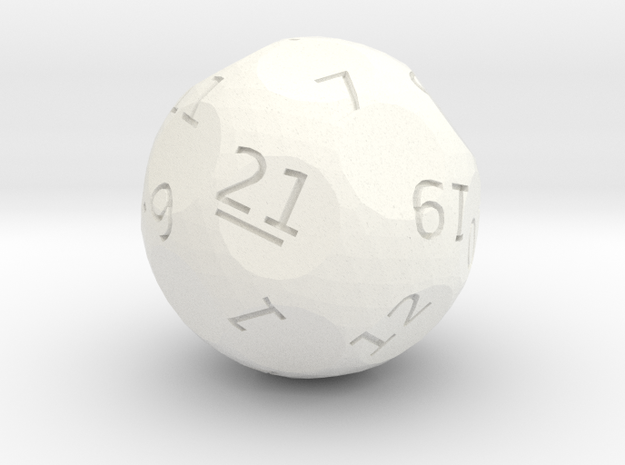 d21 oddball die in White Strong & Flexible Polished