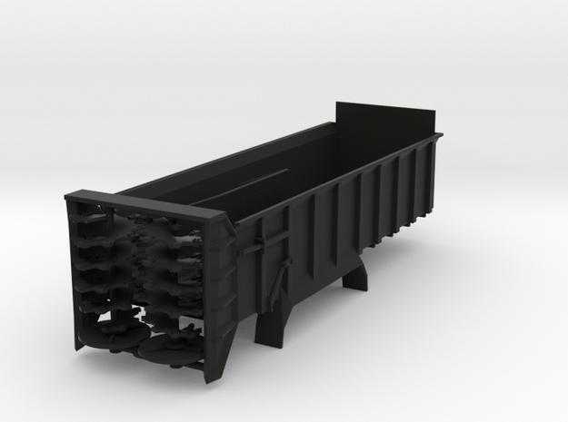 1/64 Scale Verticle Beater Manure Spreader box lon in Black Natural Versatile Plastic